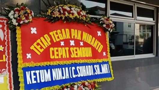 Ketua Umum Ninja Kirim Bunga untuk Wiranto: Cepat Sembuh