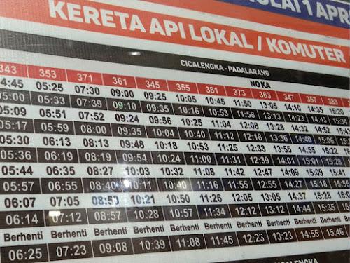 Jadwal Kereta Api Cicalengka-Padalarang 2019