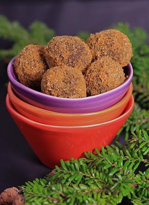 truffes, reveillon , chocolat noir , spéculoos