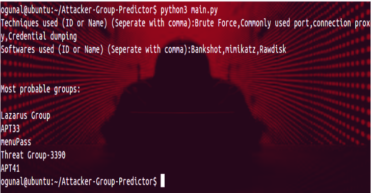 Attacker-Group-Predictor : Tool To Predict Attacker Groups