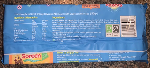 Soreen Vegan Chocolate & Orange flavour