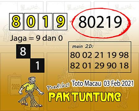 Prediksi Pak Tuntung Macau Rabu 03 Februari 2021