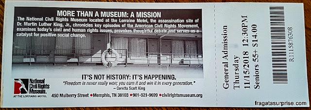Ingressos para o Museu Nacional dos Direitos Civis em Memphis