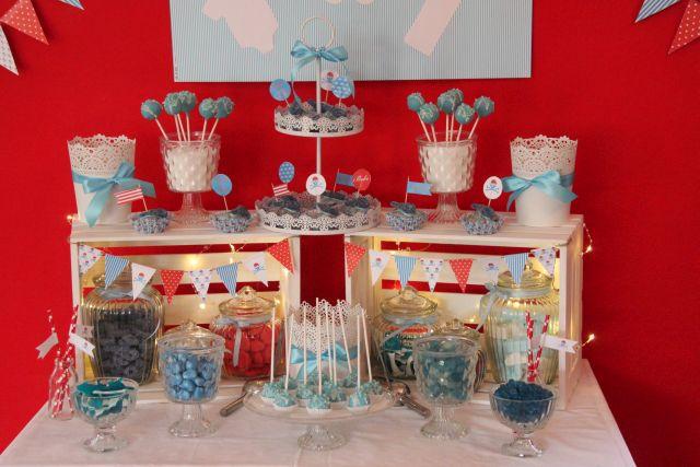 ankerwerfer deko candy bar f r babyshower. Black Bedroom Furniture Sets. Home Design Ideas