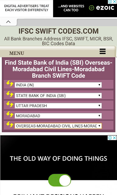 How to find bank Swift code online 2020