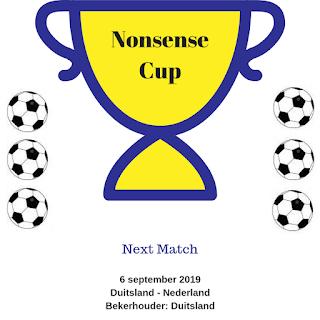 Nonsense Cup: Duitsland - Nederland 6 september 2019