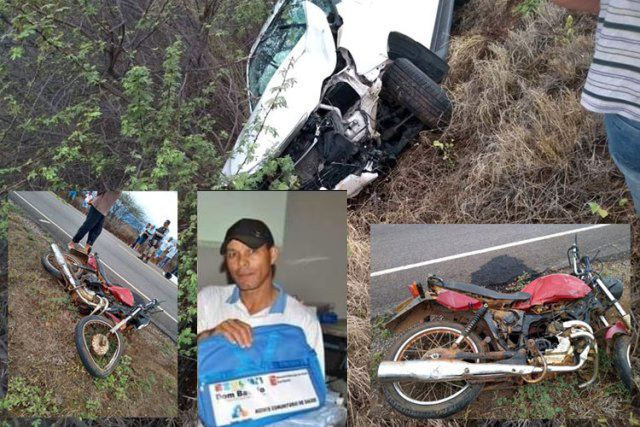 Homem morre em colisão entre carro e moto na BA-148, em Dom Basílio