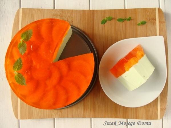Ciasto śmietankowe na zimno z mandarynkami