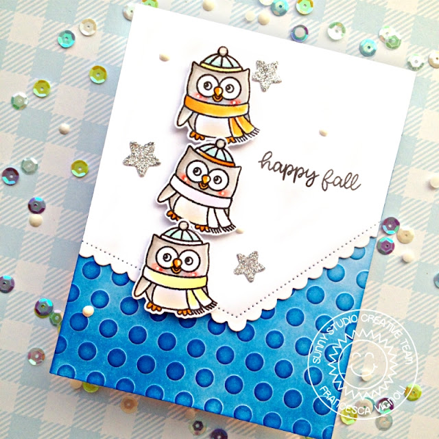 Sunny Studio Stamps: Woodsy Autumn Fishtail Banner Dies Fall Themed Card by Franci Vignoli