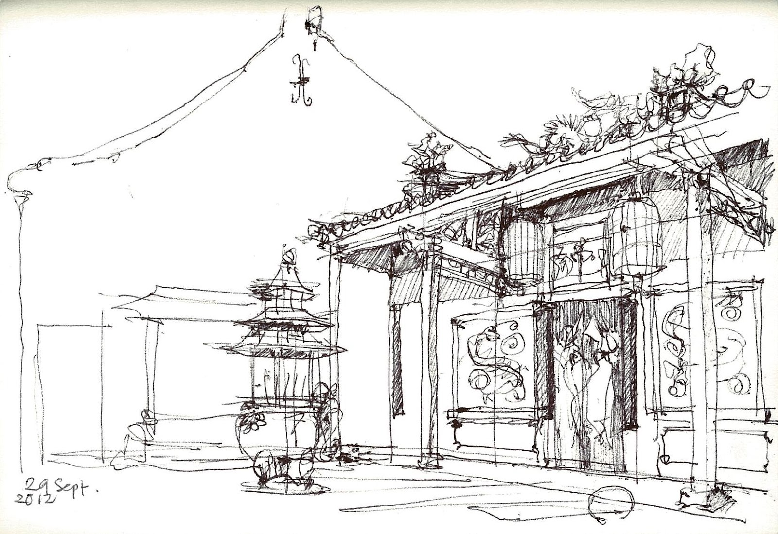 Urban Sketchers Kuching Autumn Moon Festival