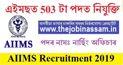 India Institute of Medical Science (AIIMS), New Delhi Recruitment 2019