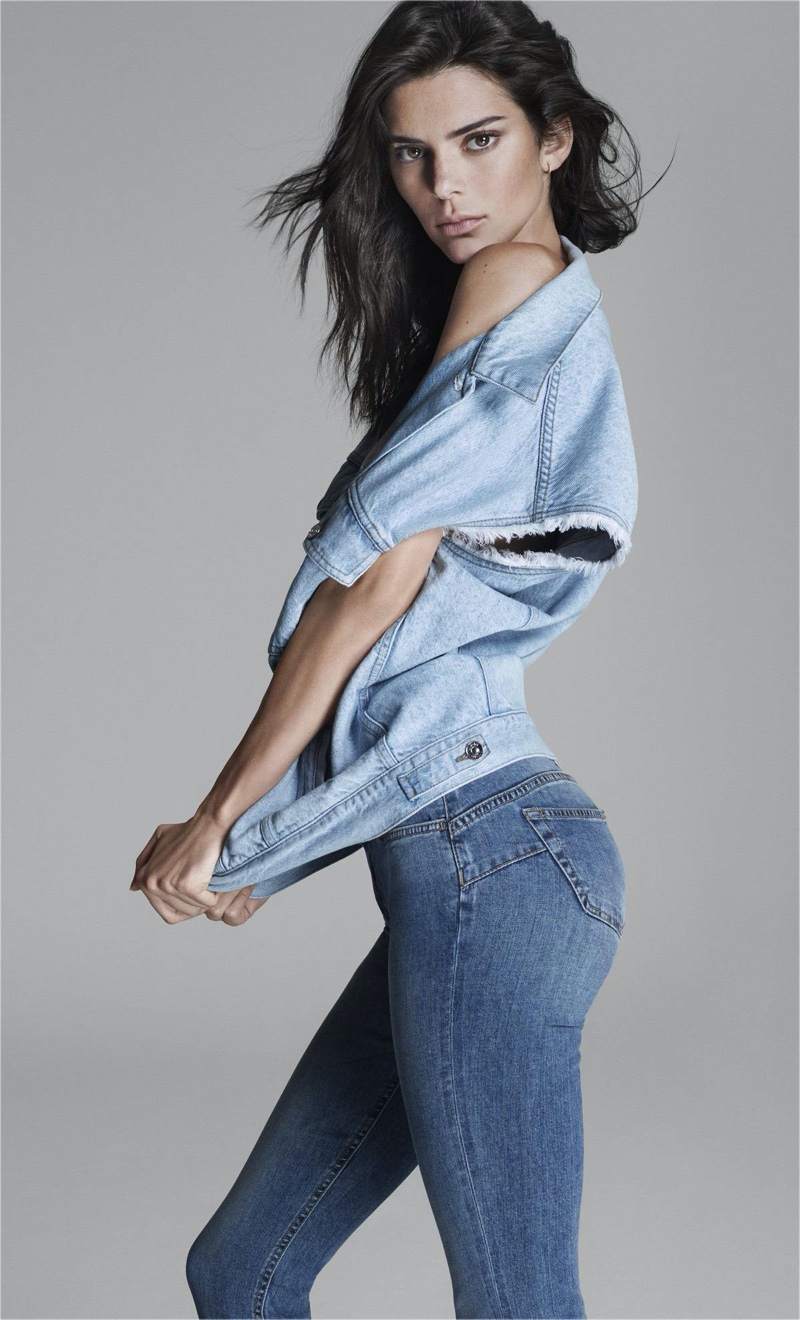 Kendall Jenner sports denim for Liu Jo spring-summer 2020 campaign