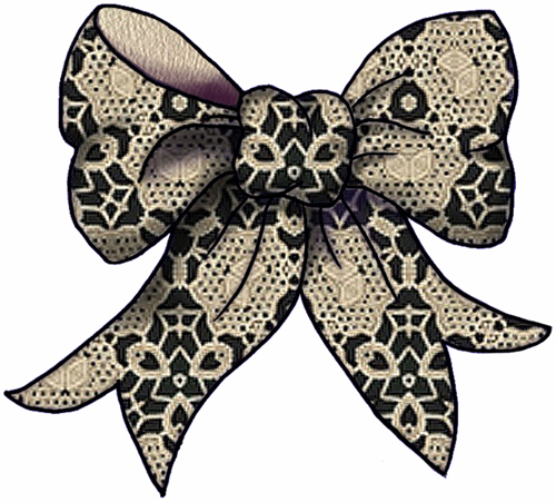 lace bow clipart -#main
