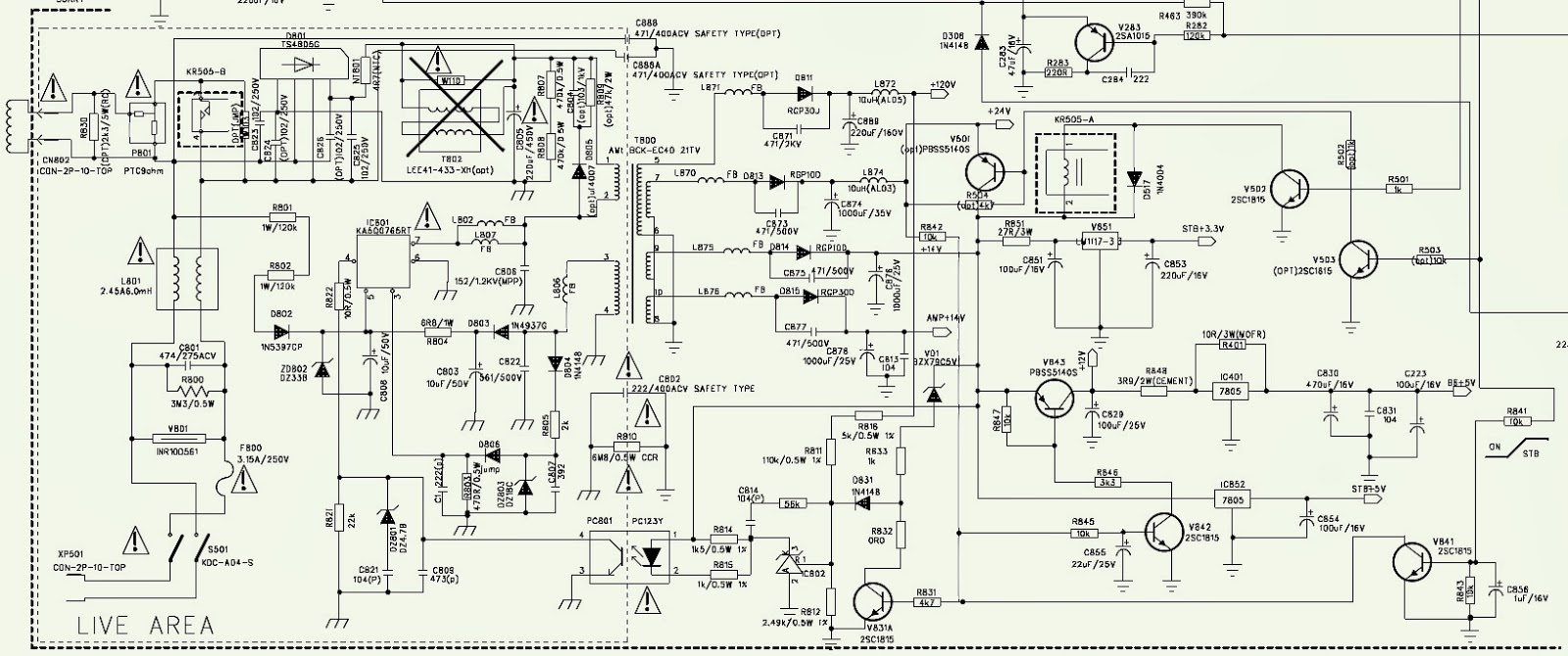 sansui lcd circuit diagram