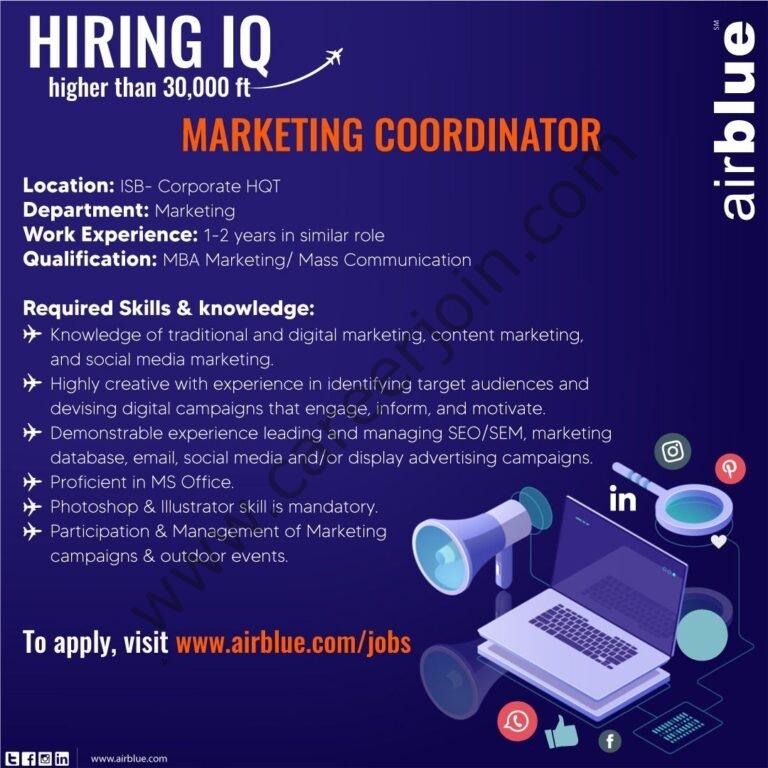 Jobs in AirBlue Pakistan