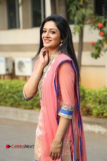 Actress Vimala Raman Stills in Beautiful Pink Salwar Kameez at (ONV) Om Namo Venkatesaya Press Meet  0127.JPG