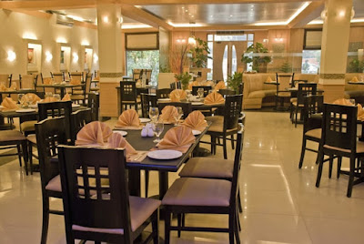 Restaurant set up with equipment