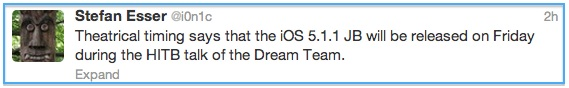 Release Date Of Absinthe To Jailbreak iOS 5.1.1 Untethered