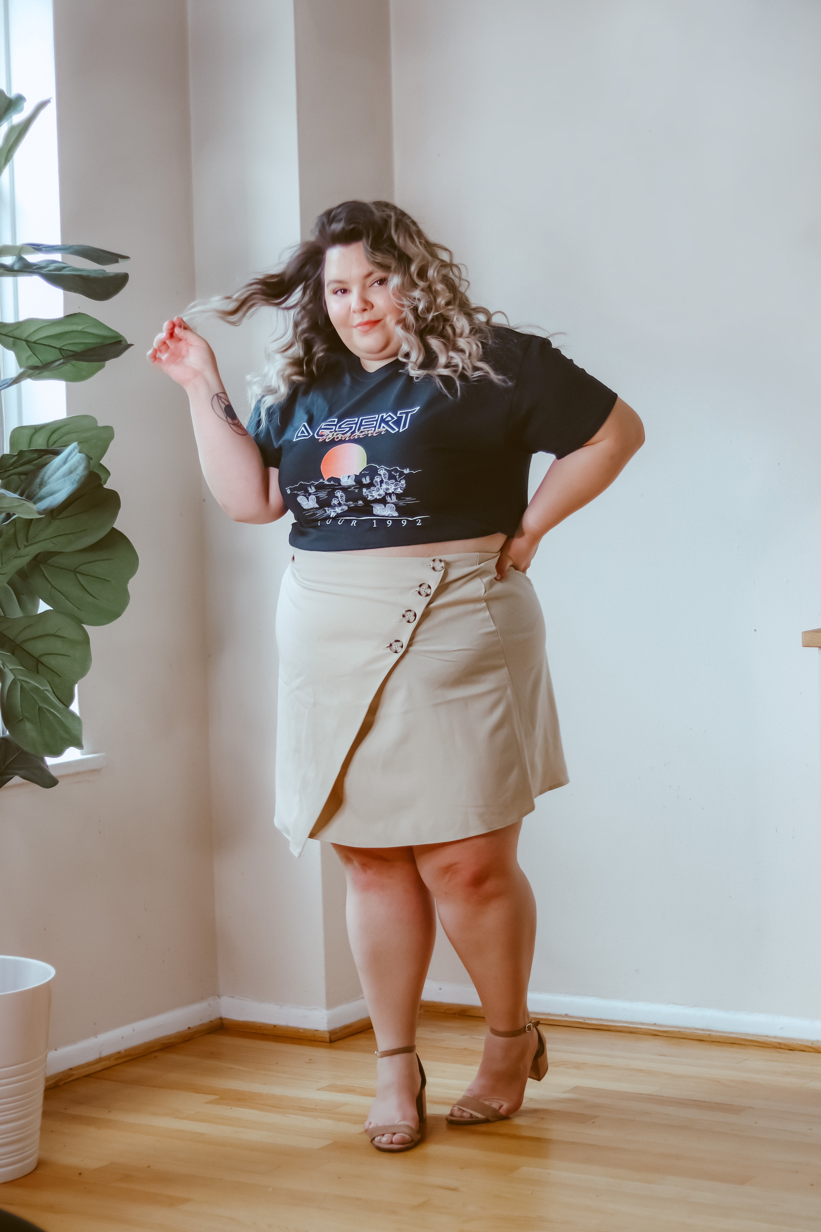 Chicago Plus Size Petite Fashion Blogger, influencer, and model Natalie in the City Craig reviews Nasty Gal.