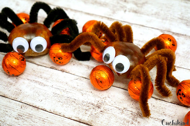 Spinne aus Kastanien