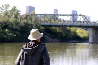 August 20, 2019 Walking the North Saskatchewan River valley in Edmonton Alberta.
