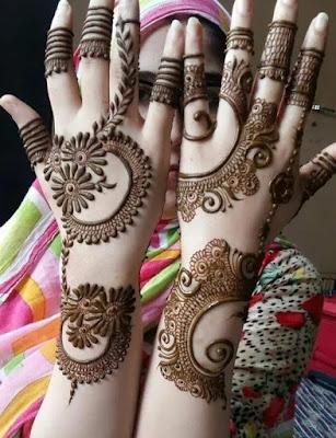 back hand mehndi design arabic latest