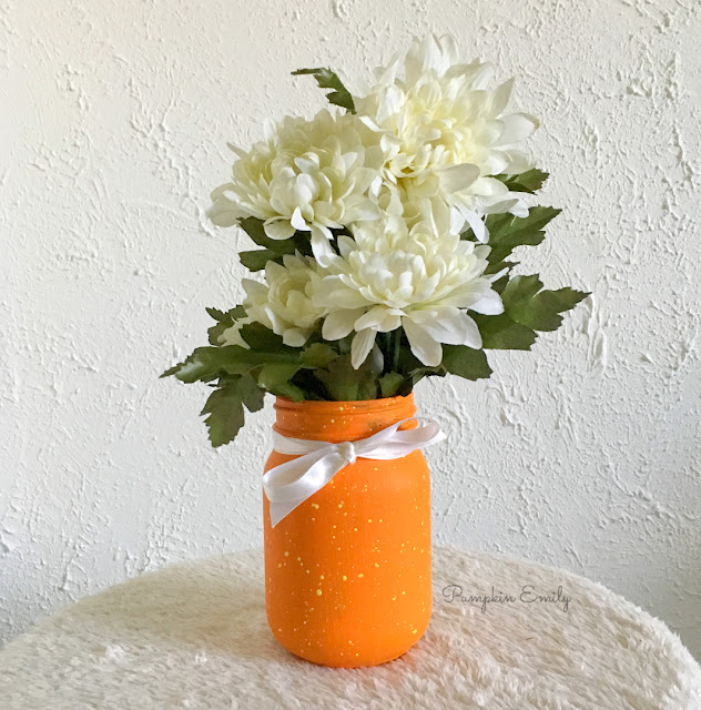 DIY Paint Splattered Paint Jar