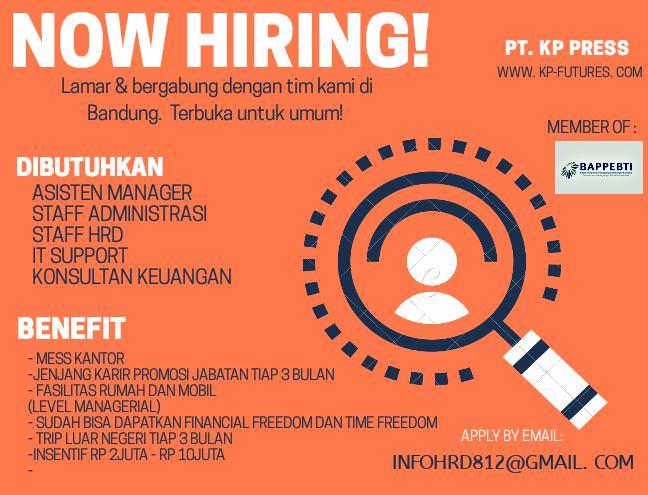 Lowongan Kerja PT. KP Press Bandung April 2020
