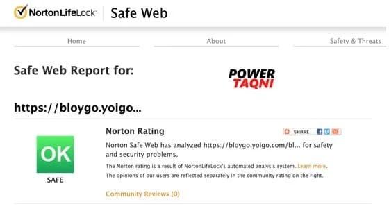 "Norton Safe Web أفضل مواقع الويب للتحقق من اللينكات المشكوك ""عناوين URL"""