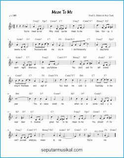 chord mean to me lagu jazz standar