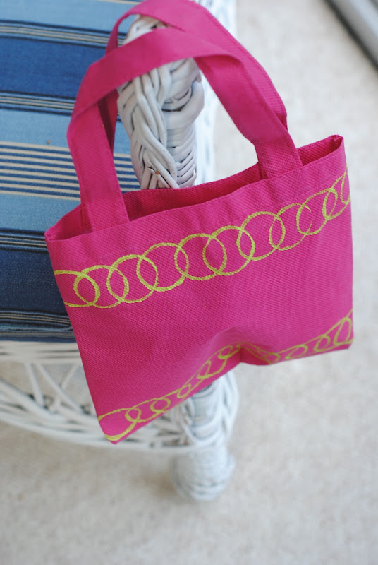 Circles stamped on a bag