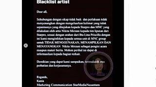 Kena Batunya, Sejumlah Stasiun TV Blacklist Nikita Mirzani Lantaran Beperilaku Tidak Baik