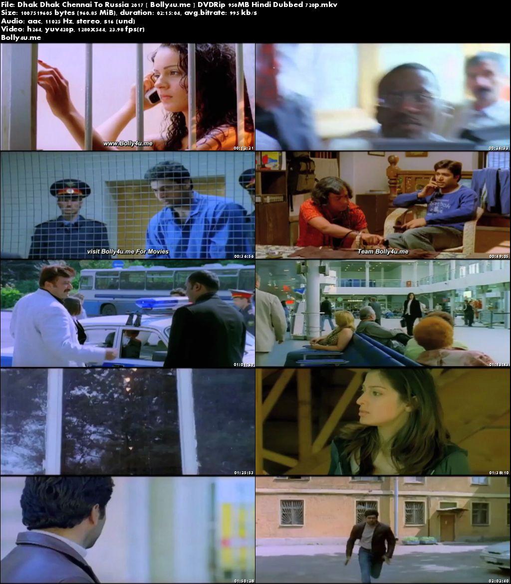 Dhak Dhak Chennai To Russia 2017 DVDRip 400MB Hindi Dubbed 480p Download