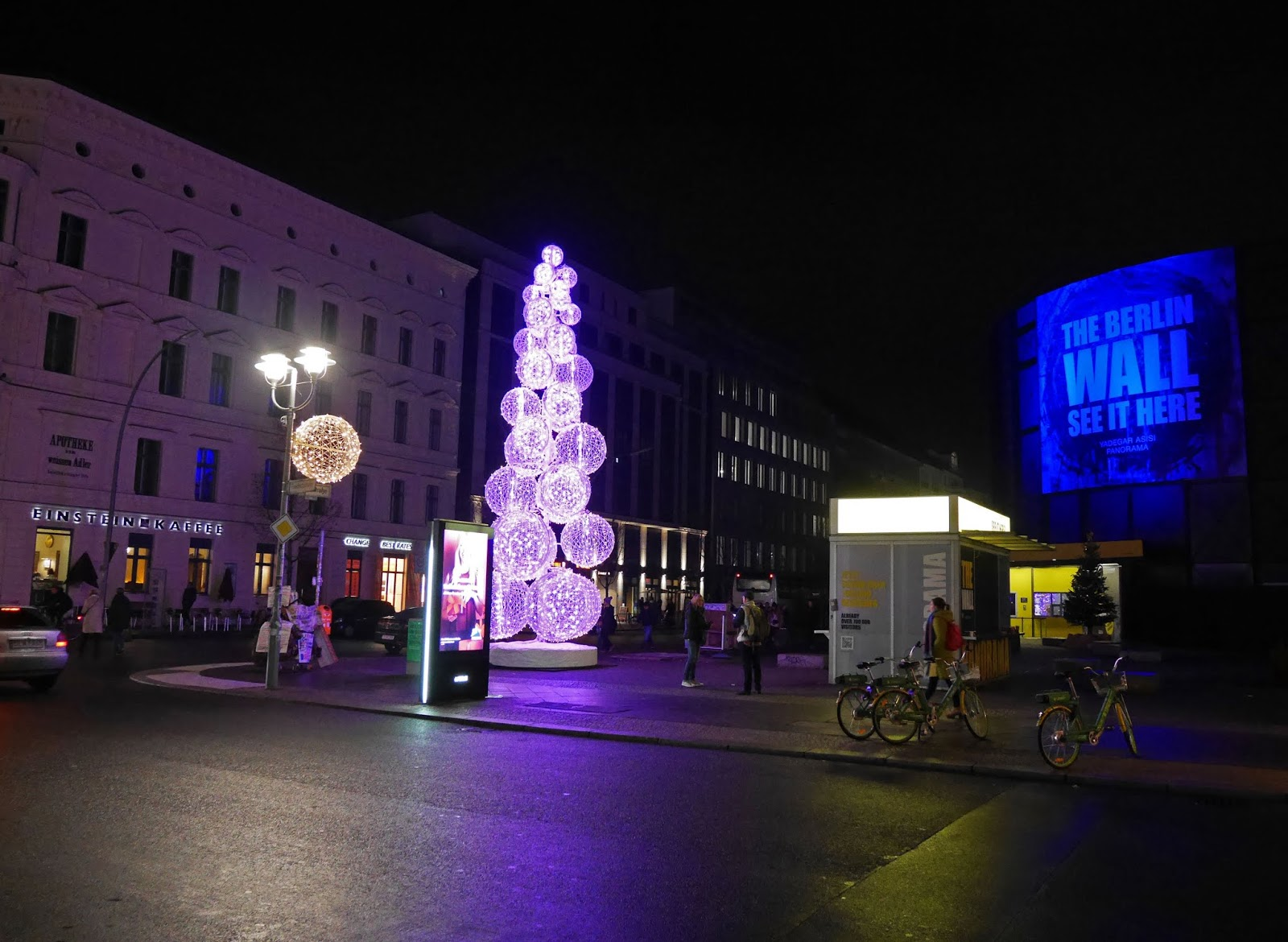 Christmas lights near Checkpoint Charlie, Berlin