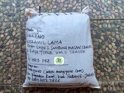 Benih Padi Pesanan  SUWARNO Sragen, Jateng.   (Setelah di Packing).