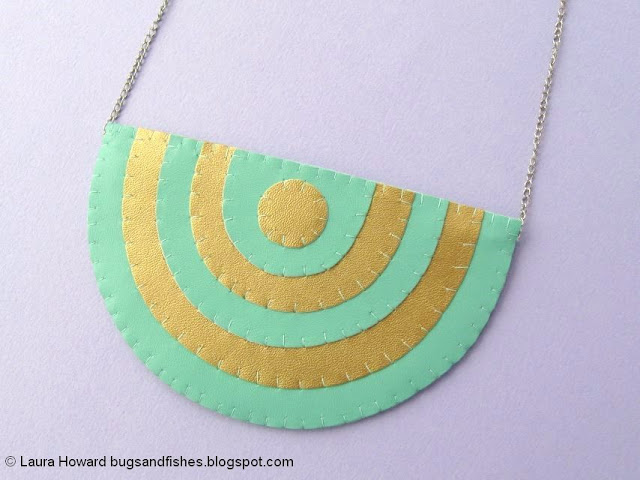 geometric vegan leather necklace tutorial