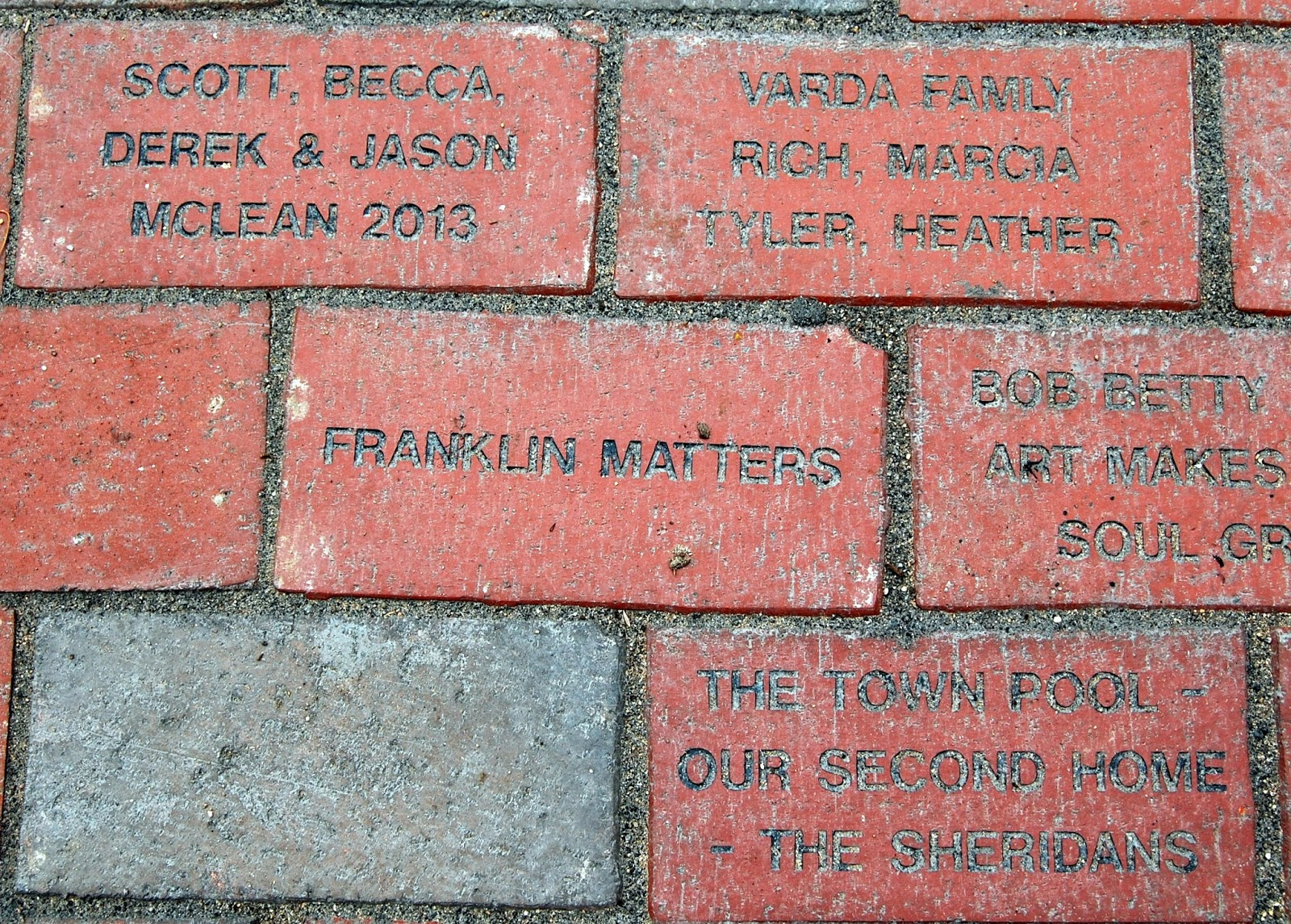 some more of the bricks