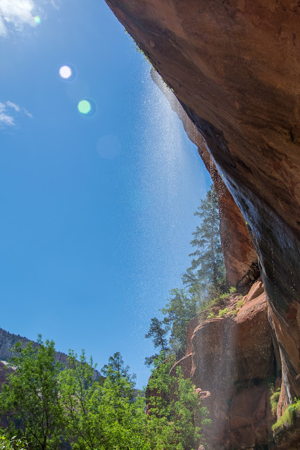 Waterfall Above Lower Emerald Pool, Zion National Park