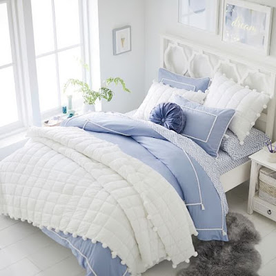 10 desain kamar warna biru sederhana dan estetik