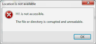Error Folder Corrupted and Unreadable
