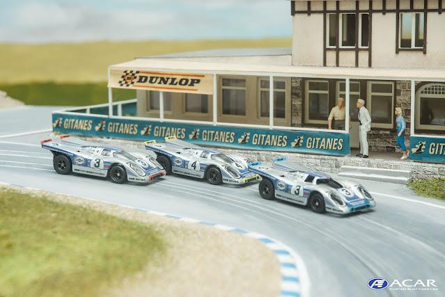 Slot car Custom Porsche 917 MARTIN Racing Deutschland, Marko, Lins