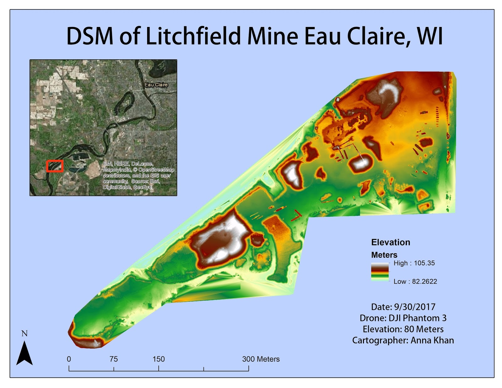 figure 9 dsm of litchfield mine