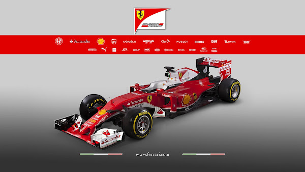 2016 Ferrari F1 Team SF16-H Wallpaper