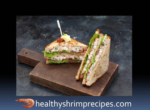 Shrimp club sandwich