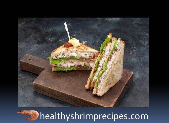 Shrimp club sandwich