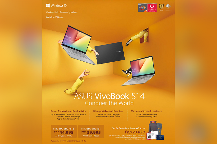 ASUS Vivobook S14 M433 Philippines: Price, Specs, Availability