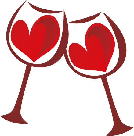 Brindis de San Valentín - Vector