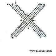 Patrón de letra X de ganchillo