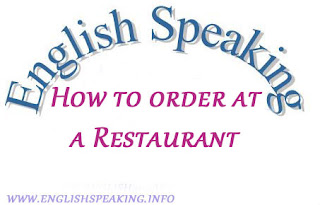 How to order at a Restaurant In English