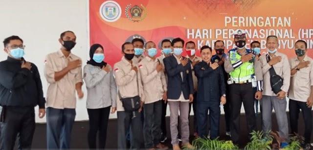 Bersama Polri, PWI Kabupeten Banyuasin Rayakan HPN 2021